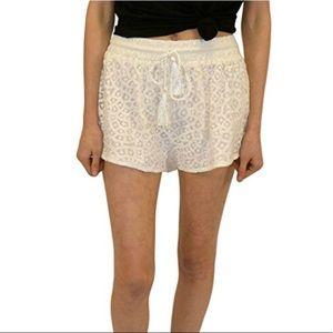 MINKPINK White Sugar Crochet Shorts